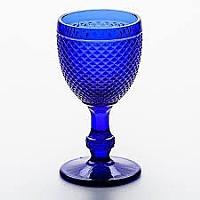 Taça Bico de Jaca Azul Cobalto 234 Ml 17 Cm Altura X 8,5 Cm Borda