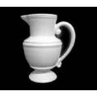 Jarra Anfora Bia - Ceramica Branca -- 17 Cm Ø X 25 Cm Alt