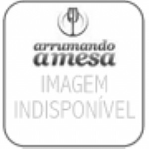 Prato P/ Bolo C/ Pe Madeira Beaded C/borda de Metal 25x17,5cm