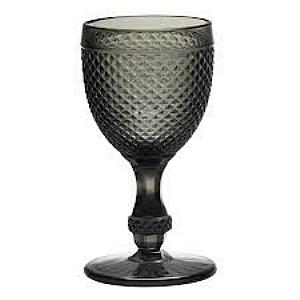 Taça Bico de Jaca Preta Grey 234 Ml 17 Cm Altura X 8,5 Cm Borda
