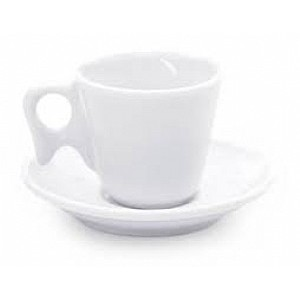 Xícara Café Com Pires Louça Branca - 70 Ml